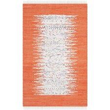 Montauk Ivory & Orange Contemporary Area Rug