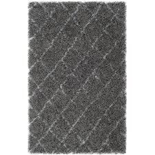 Moroccan Shag Grey & Ivory Geometric Contemporary Rug