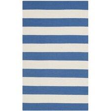 Montauk Blue & White Striped Area Rug