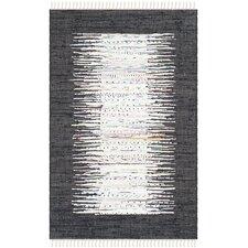 Montauk Ivory / Black Contemporary Rug