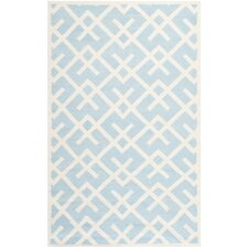 Safavieh Dhurries Light Blue & Ivory Area Rug
