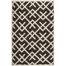 Safavieh Dhurries Chocolate/Ivory Area Rug
