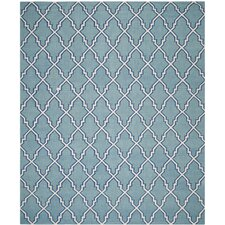 Dhurries Blue/Ivory Area Rug