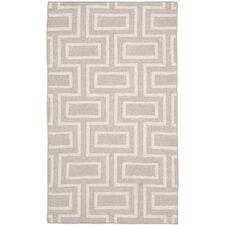 Dhurries Grey & Ivory Area Rug II