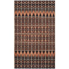 Kenya Orange & Black Contemporary Rug
