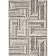 Porcello Contemporary Light Grey & Dark Grey Area Rug