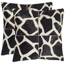 Antonio Cow Hide Suede Throw Pillow (Set of 2)