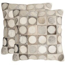 Brigittecowhide SuedeThrow Pillow (Set of 2)
