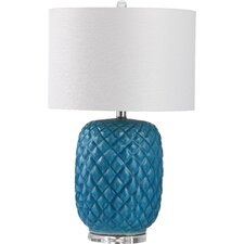"""Chaney 25.25"""" H Table Lamp with Drum Shade"""