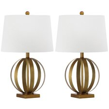 """Euginia Sphere 24.5"""" H Table Lamp with Empire Shade (Set of 2)"""