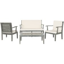 Fresno 4 Piece Seating Group with Cushions