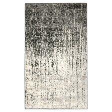Retro Black & Light Grey Area Rug