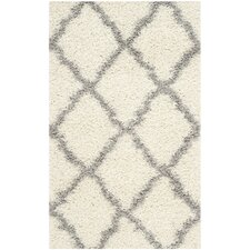 Dallas Shag Ivory/Gray Area Rug
