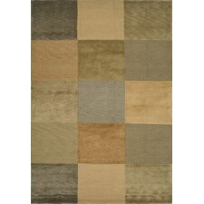 Tibetan Checked Beige/Apricot Area Rug