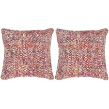 Carrie Silk Throw Pillow (Set of 2)