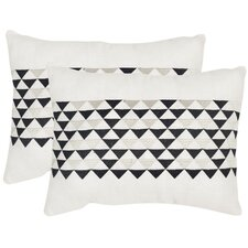 Geo Mountain Linen Lumbar Pillow (Set of 2)