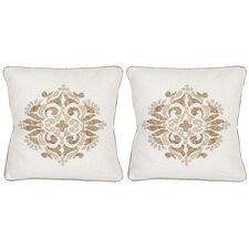 Margherite Linen Throw Pillow (Set of 2)
