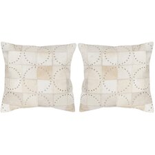 Phoebe Cowhide Throw Pillow (Set of 2)