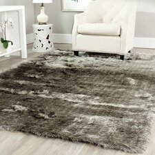 Paris Silver Shag Area Rug
