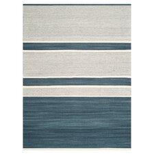 Kilim Blue & Ivory Striped Rug