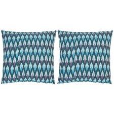 Taylor Ikat Diamond Cotton Throw Pillow (Set of 2)