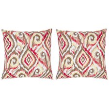 Joyce Cotton Throw Pillow (Set of 2)