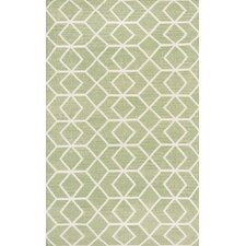 Dhurries Sage/Ivory Area Rug