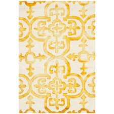 Dip Dye Ivory & Gold Area Rug