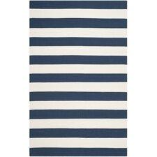 Montauk Stripe Navy & Ivory Area Rug