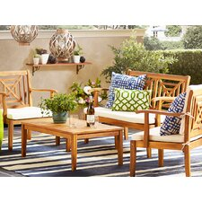 Del Mar 4 Piece Seating Group with Cushions