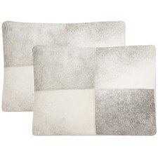 Levar Decorative Cowhide Throw Pillow (Set of 2)