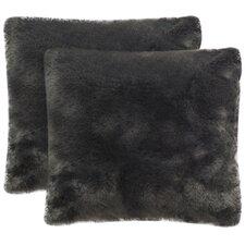 Faux Fur Fox Throw Pillow (Set of 2)