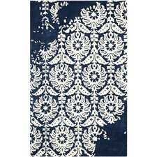 Bella Hand-Tufted Navy/Ivory Area Rug
