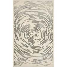 Bella Hand-Tufted Ivory/Grey Area Rug