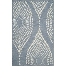 Bella Hand-Tufted Blue/Ivory Area Rug