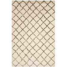 Kenya Hand-Woven Ivory / Dark Brown Area Rug