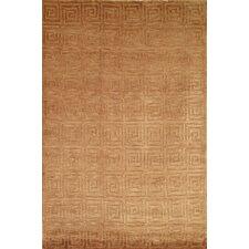 Tibetan Greek Key Camel Area Rug