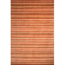 Tibetan Rust Stripes Area Rug