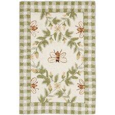 Chelsea Ivory / Green Bumblebee Area Rug