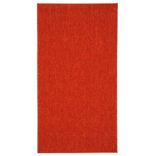 Courtyard Red Solid Outdoor Area Rug