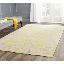 Stone Wash Yellow Rug