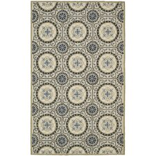 Four Seasons Cement/Blue Outdoor Area Rug