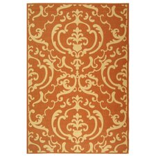 Courtyard Terracotta / Natural Outdoor Rug