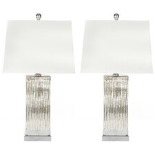 """27"""" H Table Lamp with Square Shade (Set of 2)"""