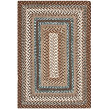 Braided Brown Area Rug