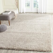 California Shag Beige Area Rug