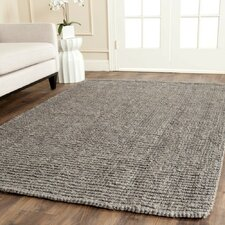 Natural Fiber Gray Indoor Area Rug