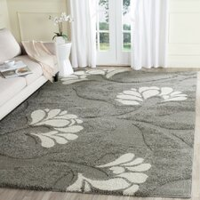 Florida Shag Dark Grey/Beige Area Rug