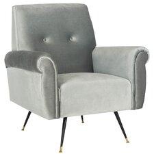 Mira Retro Mid Century Velvet Armchair