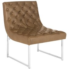 Hadley Leather Tufted Side Chair